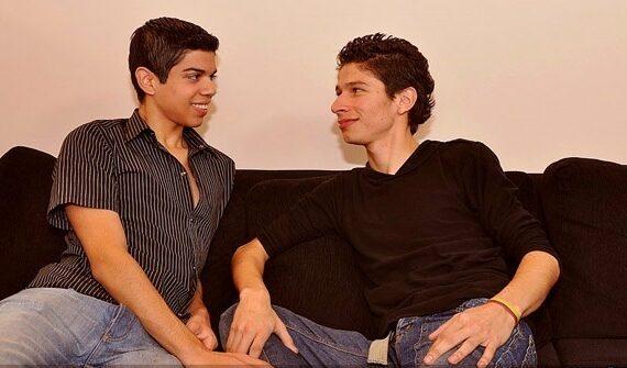 Latino boys talk